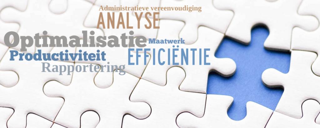 Optimisis Optimalisatie Efficiëntie analyse rapportering maatwerk